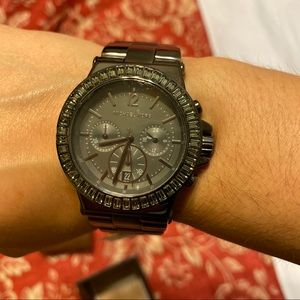 NWT MK Michael Kors Chrono Dylan with baguettes